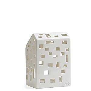 White light house from Kähler The Kähler light houses are ceramic tea light holders, with hand-carved windows, through which a cosy candle light shines The tea light holders are a special eye-catcher on every window sill and kitchen table. The Kähler...