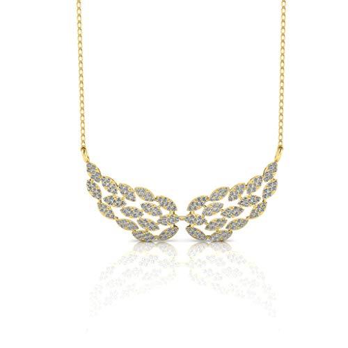 Jbr - Collar de plata de ley con diseño de ala angular para regalar en el Día de la Madre