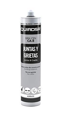Quiadsa 52502018 Sellador Acrílico, Gris, 300 ml