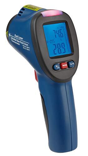TFA Dostmann SCHIMMEL DETEKTOR Infrarot-Thermometer mit Taupunktermittlungund Doppellaser, Blau, L 83 x B 60 x H 184 mm