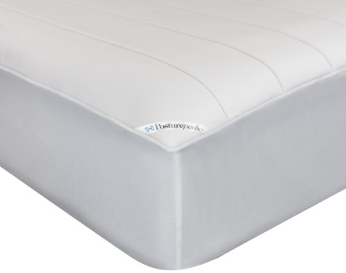"""Sealy Posturepedic Memory Foam Fitted Mattress Protector – Memory Foam Layer Adds Comfort and Support - Protection Against Spills and Stains - Machine Washable, Twin, 75""""x39"""""""
