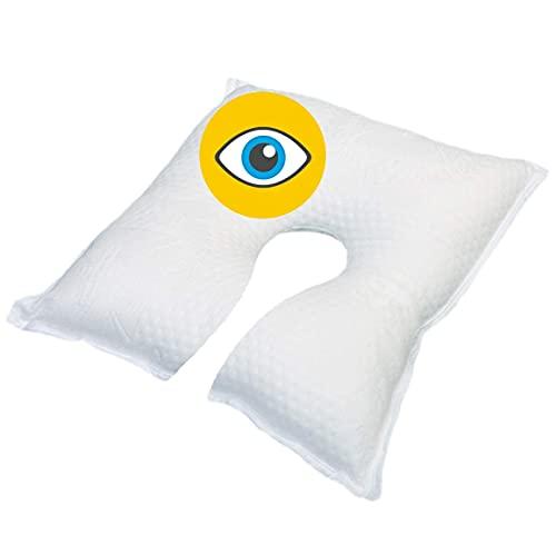 OrtoPrime Almohada Postoperatorio Ocular - Almohada Terapéutica - Cojín Ocular Ortopédico - Cojín Postoperatorio Alta Protección - Almohada Ojos Calidad y Descanso