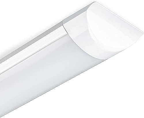 POPP®Pantalla LED batten light regleta libre halógeno tubo led integrado 9W 18W 27W 36W 45W polvo,color blanco frio.supermercado, taller, hogar y hospital (18w 4000k, 1 unidad)