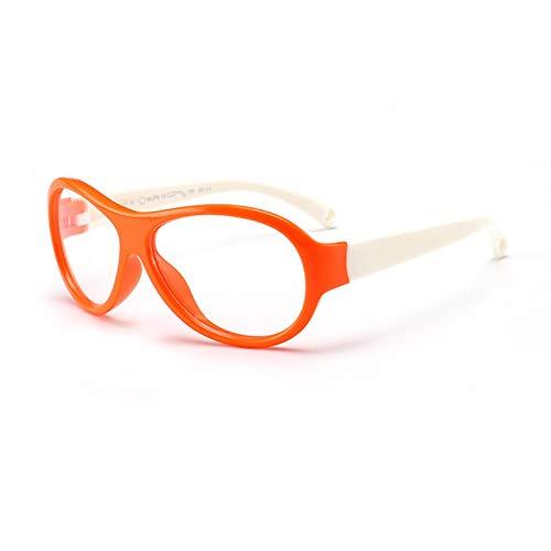 Without Marcos de Gafas Gafas para niños Gafas de Bloqueo de luz Azul de Silicona Lightles Lightweight Filter Filter Blue Ray Computer Juego Gafas (Frame Color : C2)