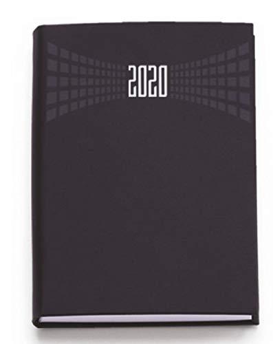 Agenda 2020 bigiornaliera 7x10 cm tascabile copertina matra' 2 giorni per pagina (Nero)