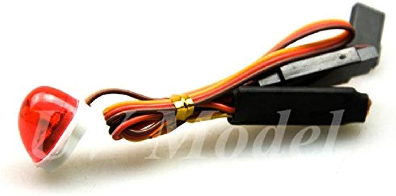 5V LED Lamp StrobingBlasting Flashing redating Light for 1 10 RC Model Car Tamiya AX510B RC Ambulance Rescue Car Accessories   Red