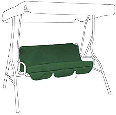 2 cojines laterales 180 x 100 x 12 cm lyrlody- Funda de asiento para columpio de 4 plazas verde coj/ín para balanc/ín exterior con respaldo