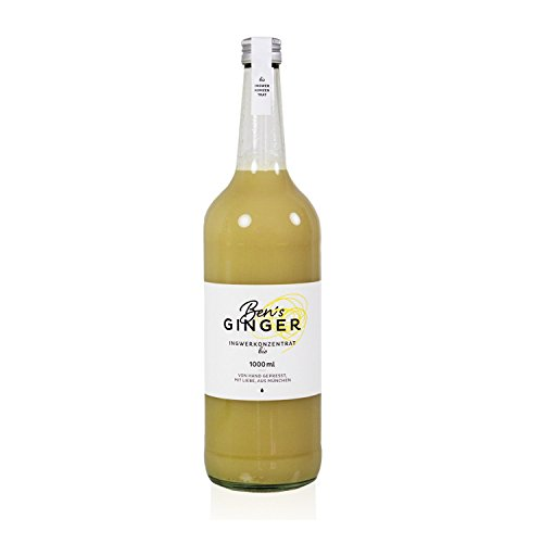 BIO BEN'S GINGER - BIO INGWERKONZENTRAT - 1 Liter  (DE-ÖKO-037)