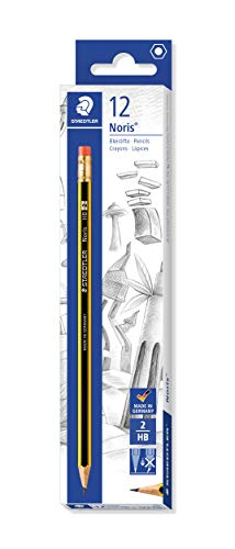 Staedtler Noris 122-HB Pencils Rubber-Tipped HB (2) Degree - Box of 12