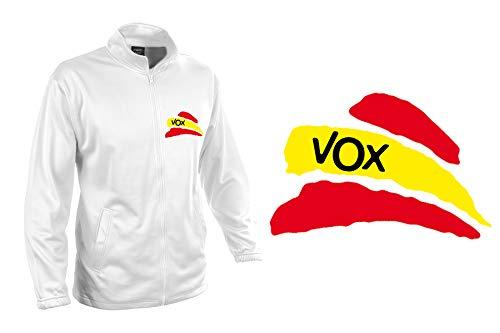 MERCHANDMANIA Chaqueta Tecnica 1 Dibujo Partido VOX Bandera ESPAÑOLA Jacket