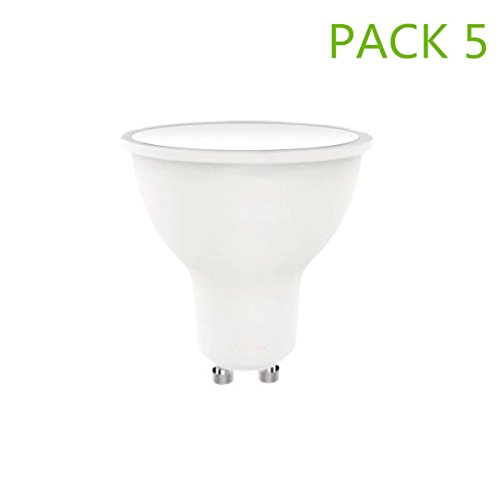 Bombilla LED GU10 7W (Pack 5) Blanco Neutro 4000k-4500k 560lm ángulo 120°