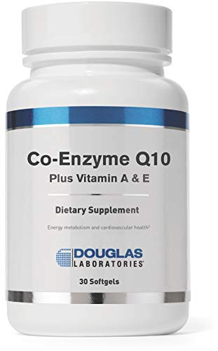 Douglas Laboratories - Coenzyme Q10 Plus Vitamin A & E - Supports Energy Production and Proper Functioning of Cells - 30 Softgels