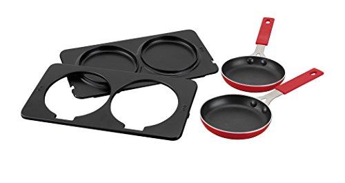 Jata AC266 Accesorio Dos sartenes y Placas para el Grill, 0 W, Negro y rojo