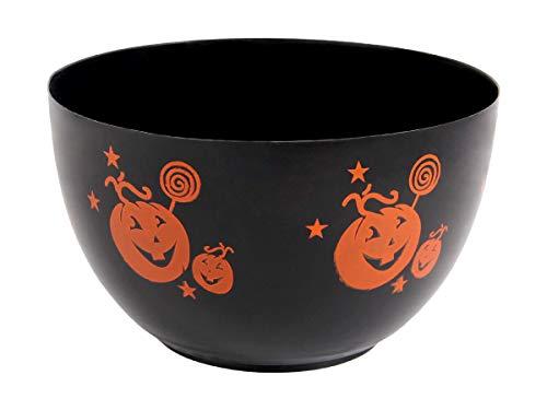 Halloween Süßigkeiten Schale Schüssel ca 25 x 10 cm Süßes oder Saures Accessoire Deko von Alsino, 98/2041 schwarz