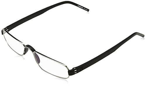 Rodenstock unisex occhiali da lettura ProRead R2180, aiuto alla lettura con lenti antiriflesso a cerchio pieno, con montatura leggera in acciaio inossidabile, per ipermetropia (+1 / +1,5 / +2 / +2,5)