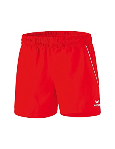 Erima 1320704 Short Femme, Rouge/Blanc, FR : M (Taille Fabricant : 42)