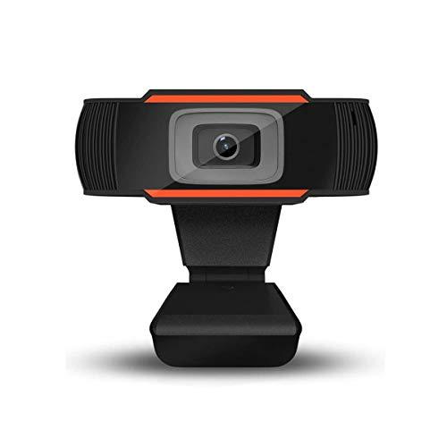 Webcam PC 1080P Full HD con Micrófono Estéreo, Portátil Cámara Web USB 2.0 Reducción de Ruido,Web CAM de Enfoque Fijo,Plug y Play,para Video Chat Grabación y Conferencias