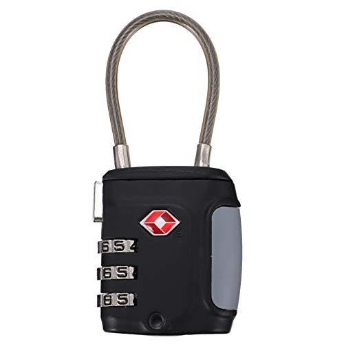 SOIMISS Candado de Combinación Candado Bloqueo de Contraseña Dígitos Al Aire Libre Impermeable Candado para Equipaje Candado Mochila Gimnasio Locker Lock Maleta de Bloqueo