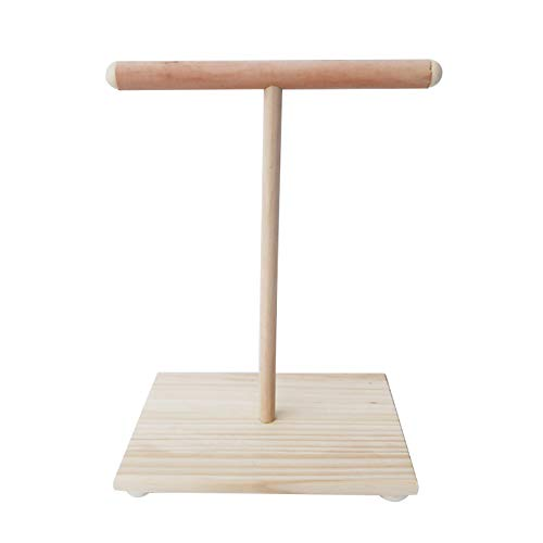 lansuiyour Pata de madera para loro, perca, soporte en T, para entrenamiento de pájaros, patas de molienda de juguetes para mascotas, cacatúas, jaula de juguete