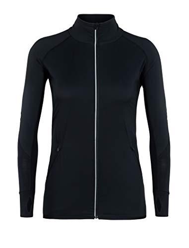 Icebreaker Damen Tech Trainer Hybrid Jacket Fleecejacke, Black, S