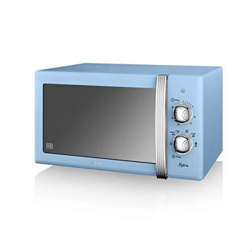 Swan SM22130BLNRetro Manual Microwave, 20 Litre, 800 W, Blue