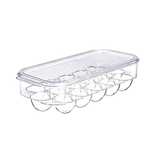 Niazi Soporte para huevos apilable para frigorífico, contenedor de almacenamiento de plástico transparente para frigoríficos y congeladores