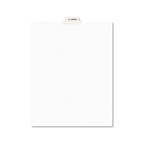 Avery 11942 Avery-Style Preprinted Legal Bottom Tab Divider, Exhibit C, Letter, White, 25/PK
