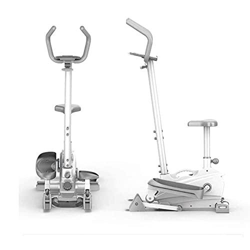 Ellittica E Cyclette, Guida Magnetica Silenziosa,Passo-Passo con Sedile, Attrezzatura da Palestra Cardio Fitness 2 in 1