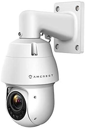 Amcrest 4MP Outdoor PTZ POE + IP Camera Pan Tilt Zoom (Optical 25x Motorized) UltraHD POE+ Camera Security Speed Dome, CMOS Image Sensor, 328ft Night Vision, POE+ (802.3at) IP66, 4MP, IP4M-1063EW-AI