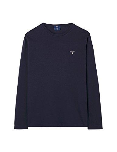 GANT Herren Langarmshirt SOLID LS T-SHIRT, Blau (EVENING BLUE 433), XX-Large (Herstellergröße: XXL)