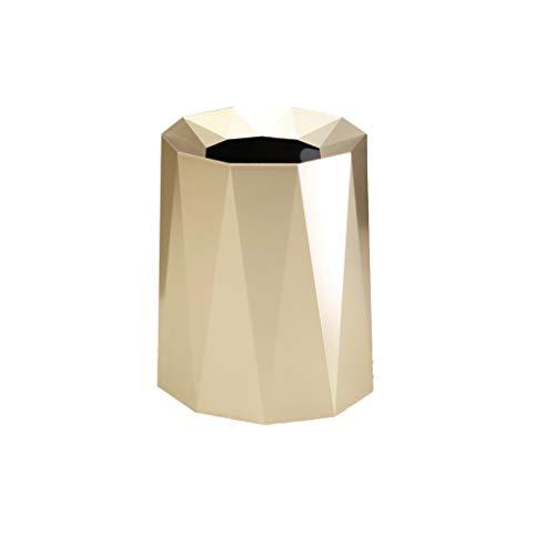WGZ - Sala de estar creativa luz de lujo dormitorio sin cubierta baño engrosamiento basura durable (color: dorado, tamaño: 12L)