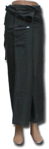 Thai Fisherman Pants Yoga gris écharpe longue pantalons paréos douces