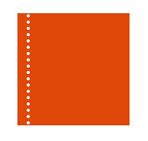 Semikolon (353058) Fotokarton 17 fach gelocht orange (orange) | Für Foto- & Gästebuch 17-Ring | 20...