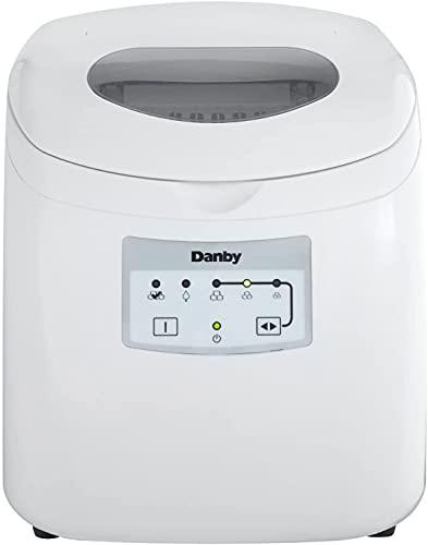 Danby DIM2500WDB Portable Ice Maker, 120 V, Steel, 2 lb, White (New/White)