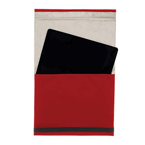 lifetexsafety Strahlenschutz-Tasche Tablet und Smartphone Sleeve | RFID | NFC | GPS Blocker für Samsung, Apple, Lenovo, Huawei (Rot)