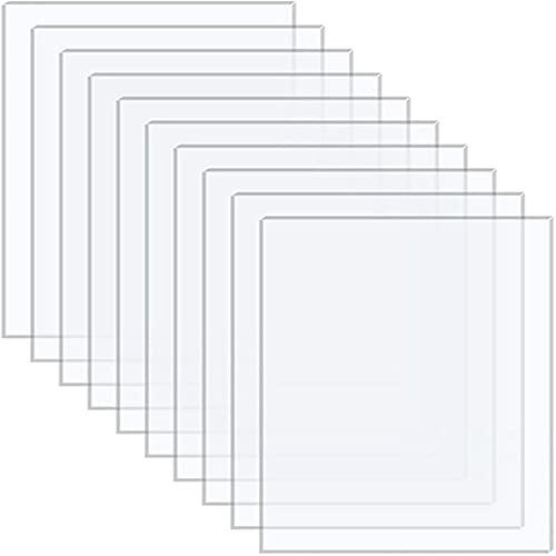 XUBX 10 Hojas de Acrílico Transparentes, 150x200 cm, Metacrilato Plexiglás, Paneles de Plástico Acrílico, 2 mm de Espesor Hojas de Exhibición de Plástico, Reemplazo de Vidrio de Marco de Foto Pintura