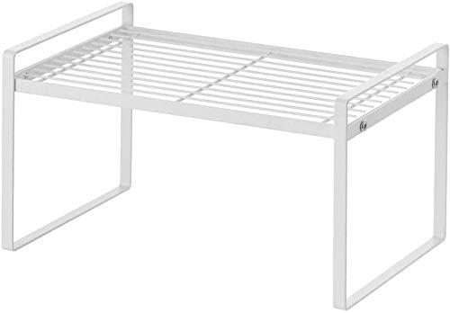 Countertop Shelf,Stackable Cabinet Cupboard Organizer, Spice Racks, Kitchen Bathroom Pantry Storage Shelfves(33 20.5 24cm)