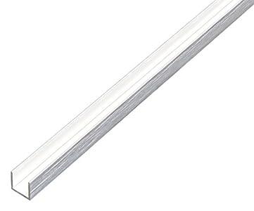 GAH-ALBERTS 488468U de perfil–Aluminio, chromdesign, 1000x 10x 10mm, plateado, 488949