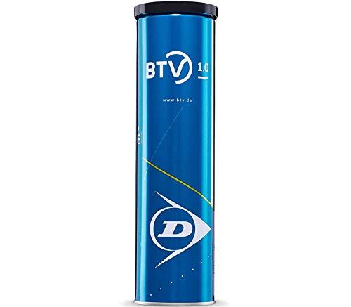 DUNLOP Erwachsene (Unisex) BTV 1.0 Tennisball, gelb