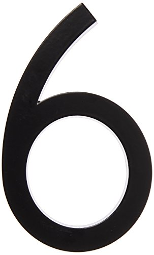 "Hy-Ko Products FM-6/6 Floating House Number 6 (SIX), 6"" High, Black"