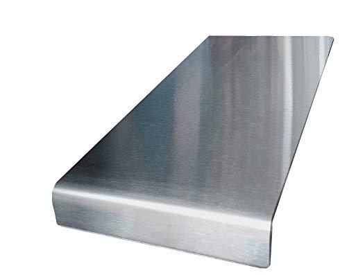 Rostfritt stål bänkskiva sparare skärning fyrkantig kant, platt eller rund se alla variationsstorlekar (300 x 600 mm rund vik)