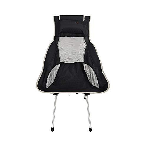 ZHANGJN Chaise Pliante Portable à Dossier Haut pour Camping, pêche, Festival, Plage, randonnée, Alliage, Gris, Size 0.00watts