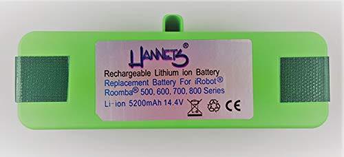 Hannets Li-Ion Batería Compatible con Las Series iRobot Roomba 500, 600, 700 y 800 I Batería i-Robot Roomba Batería Aspiradora robotizada I Batería Robot de succión 5400mAh Batería de Repuesto 14,4 V