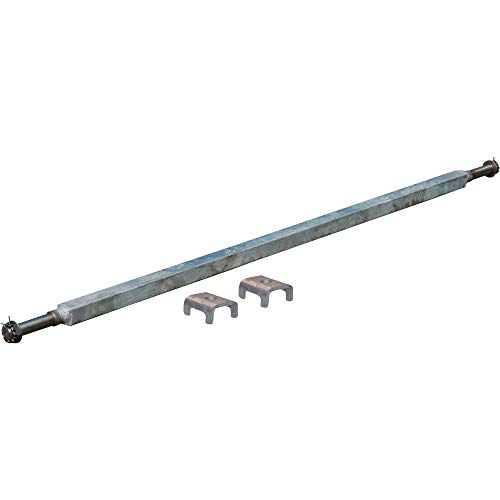 Ultra-Tow 2000-Lb. Capacity Spring Trailer Axle with Adjustable Spring Mounts - 59 1/2in. Hubface, 43in.-49in. Spring Center, 64 1/2in.L, Straight
