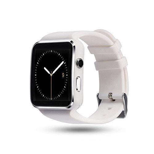 Interactive Smart Watch X6 – Bluetooth reloj color blanco compatible con Android IOS Windows inteligente reloj de pulsera con