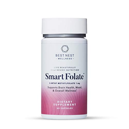 Smart Folate, 1000 mcg L-Methylfolate, Immune, Memory and Mood Support, 60 Capsules, Best Nest Wellness