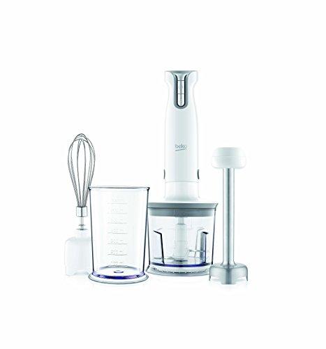 Beko hba6700 W Mixeur Plongeant avec accessoire hachoir et accessoire Mixeur, 700 W, 0,7 litres, blanc