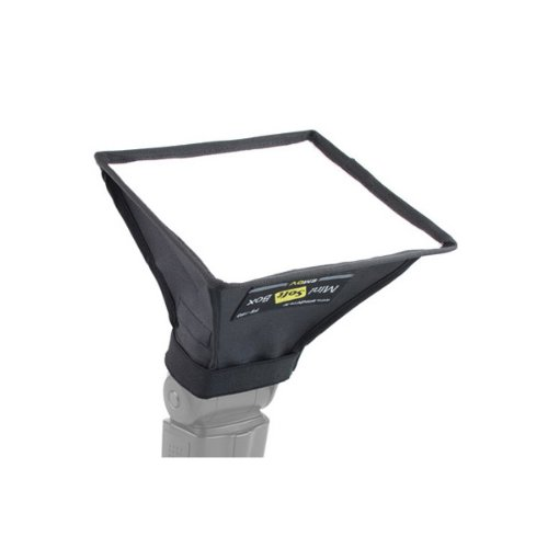 SMDV Mini-Softbox FS-300 - 30 x 20cm - Softbox für Aufsteckblitze - Diffusor - für z.B. Canon Speedlite 600EX 580EX I+II, 430EX I+II; Nikon Speedlight SB-910 SB-900 SB-800 SB-700 u.a.