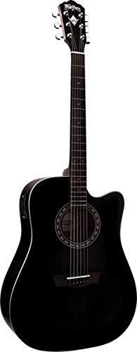Gitarre Washburn Folk Harvest D7SCEBM noir mat