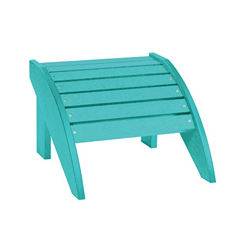C.R. Plastic Products CRP Generations Classic Adirondack Fauteuil Repose-Pieds: Turquoise